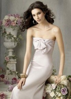 Pink Strapless Satin Dresses For A Wedding Of Mermaid