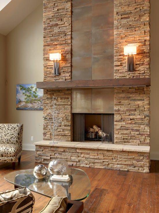 Resultado de imagen para imagenes de paredes decoradas con - Paredes de piedra para interiores ...
