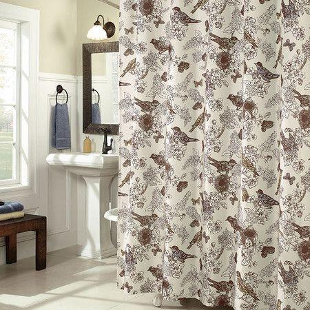 Birdwatcher Shower Curtain Bird Shower Curtain Curtains Shower