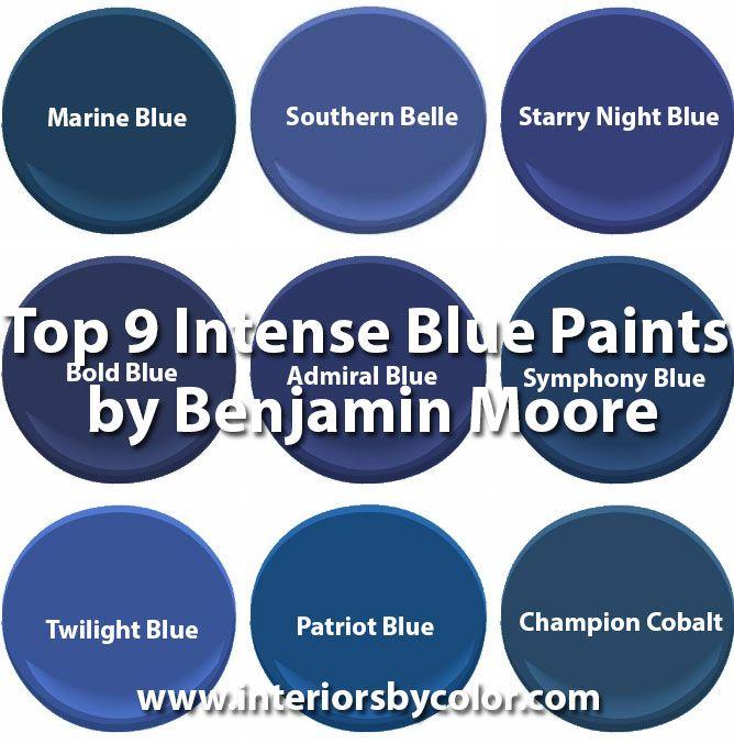Top 9 Intense Blue Paints By Benjamin Moore Paint Colors