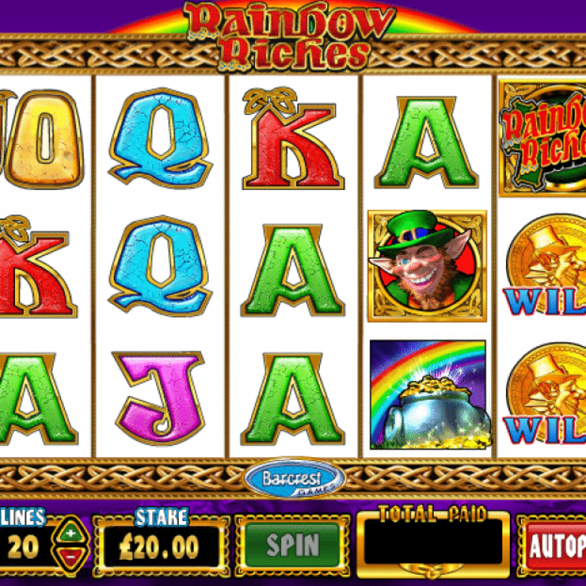 Play Slots For Free Rainbow Riches