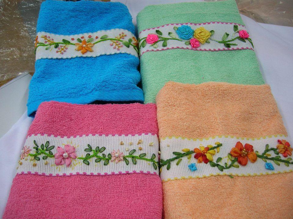 toallas bordadas