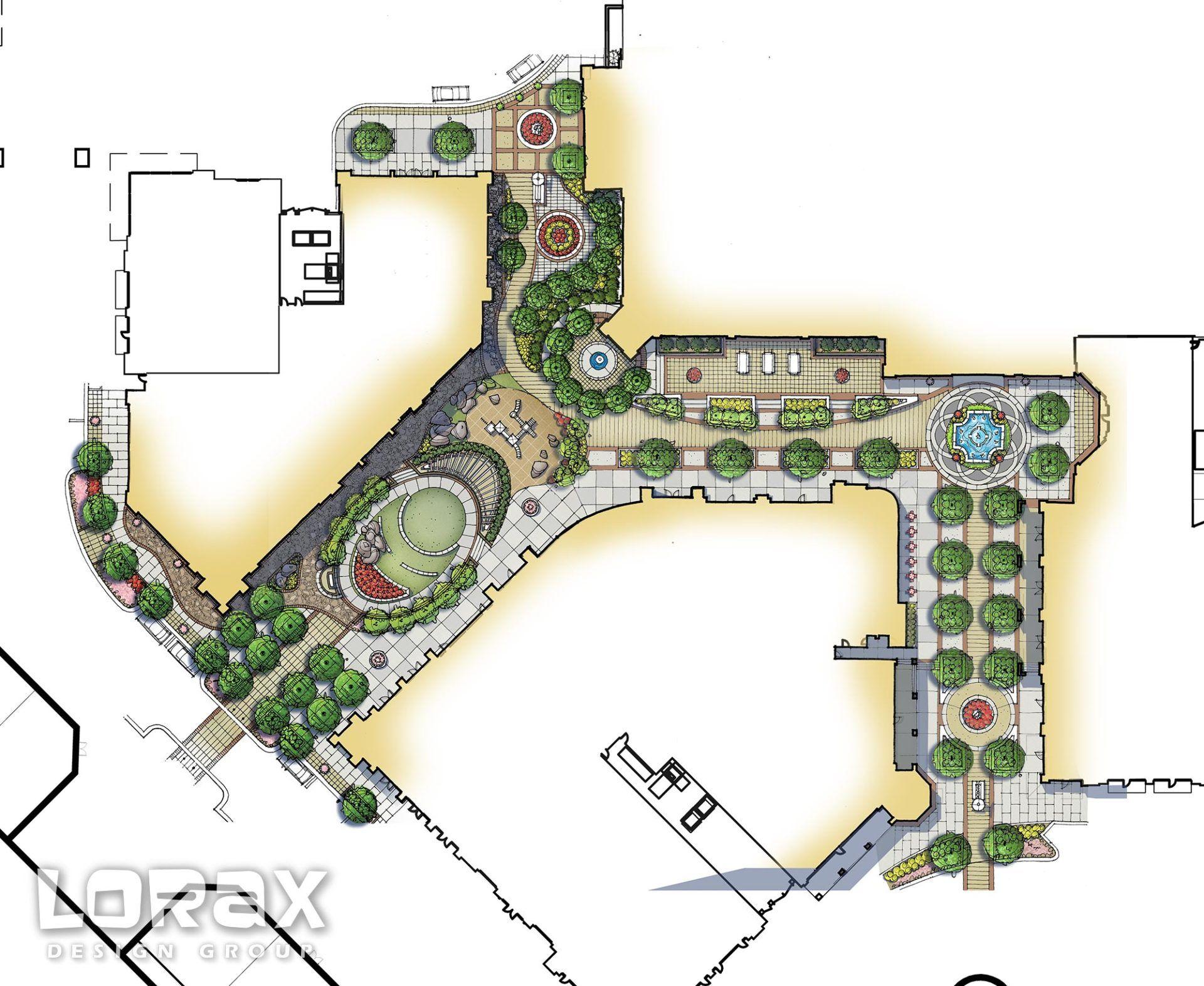 Corbin park luxury pool company landscape architect in