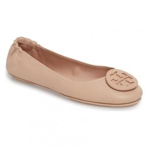 2bac48f73 Tory Burch Minnie Goan Sand Leather Travel Ballet Flats - 20% OFF ...
