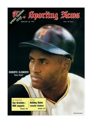 Pittsburgh Pirates Rf Roberto Clemente February 28 1970