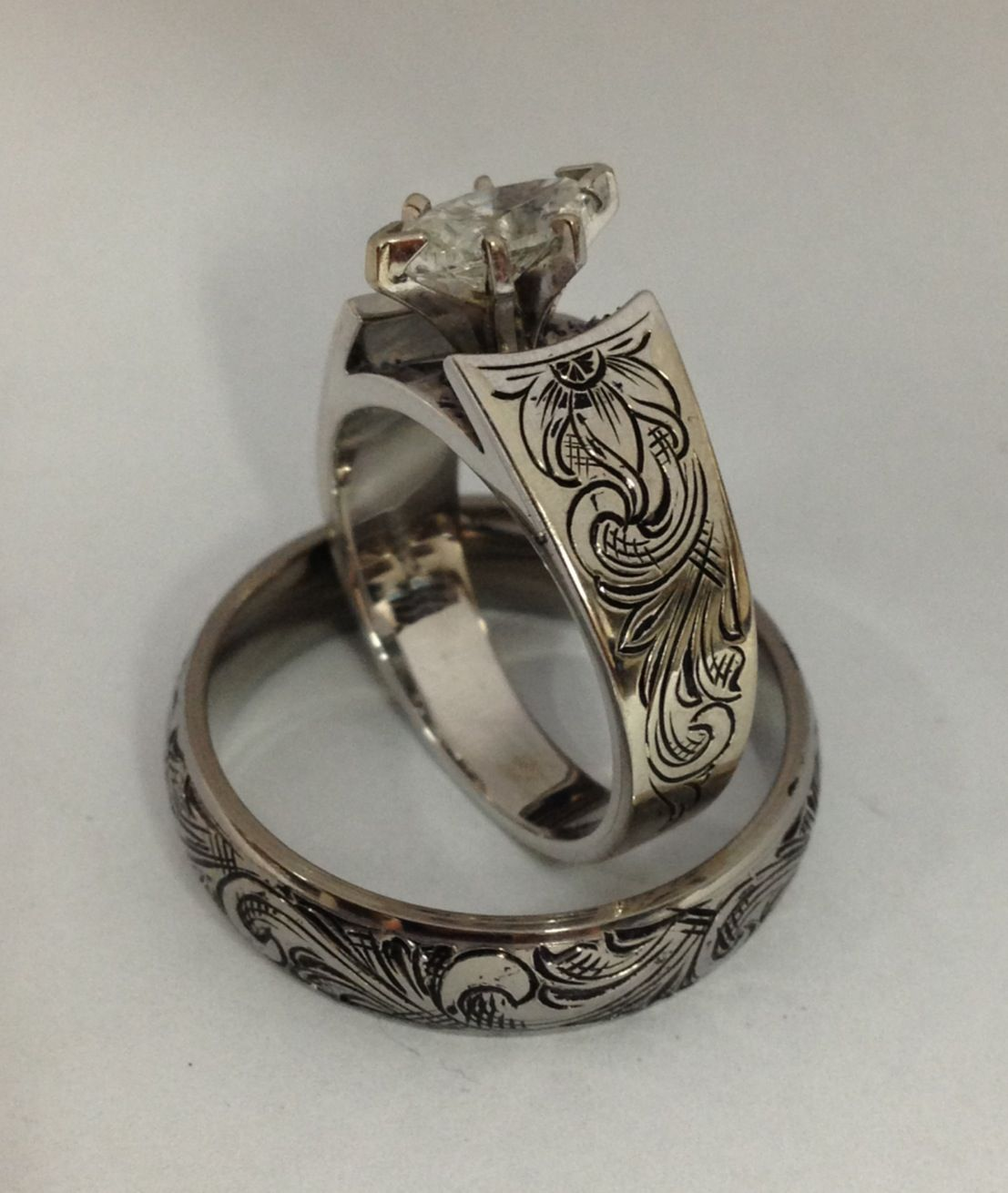 Pin by Matt Litz on Rings Western wedding rings