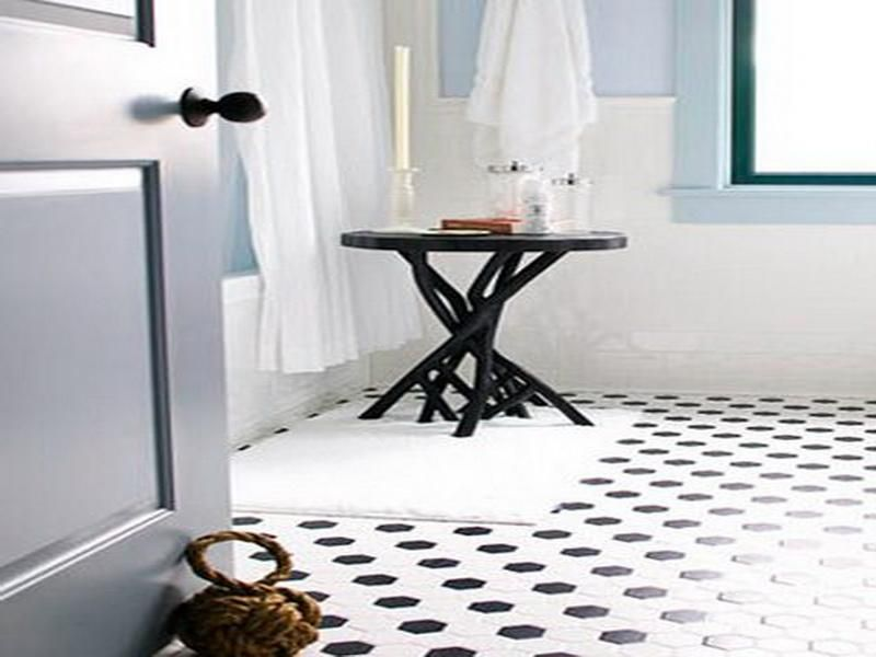 Coolest Bathroom Tile Ideas Small Bathroom Black White Bathroom - Black and white polka dot bathroom rugs for bathroom decorating ideas