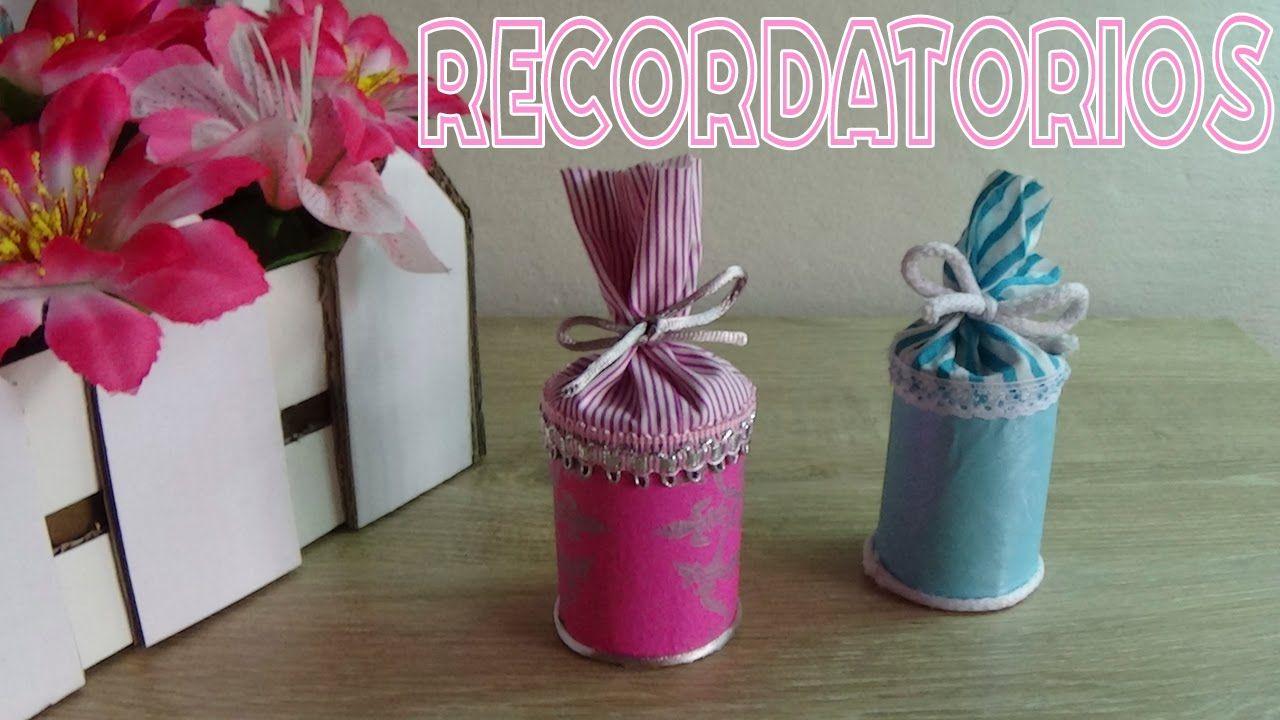 Recuerdos Para Baby Shower Con Material Reciclado Candy Bu