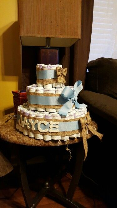 Diaper cake i made for a co-worker!