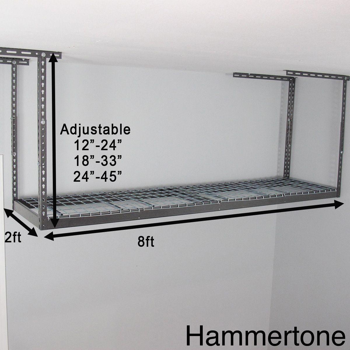 MonsterRax 2' X 8' Overhead Garage Storage Rack (Ceiling