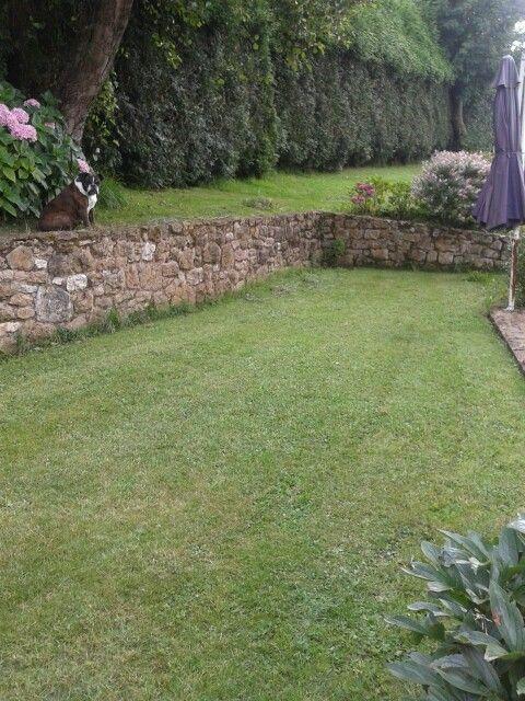 Desnivel con muro de piedra ale pinterest muro de - Jardines en desnivel ...