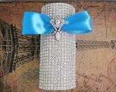Elaborate Crystal Bridal Bouquet Holder: Rhinestone Bouquet Wrap -- Wedding Flowers. $60.00, via Etsy.