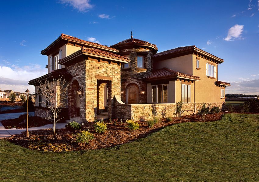 Godden sudik architects award winning custom home for Custom mediterranean homes
