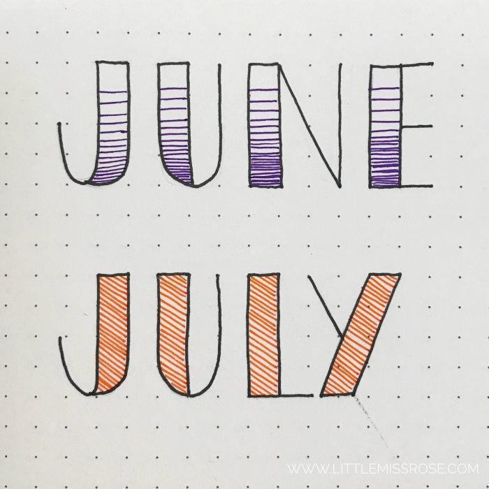 11 Simple Hand Lettered Fonts For Your Bullet Journal