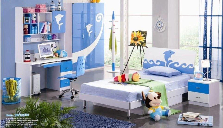 Kids Room Furniture Set Contemporary Design - Blue Dolphin Theme ...