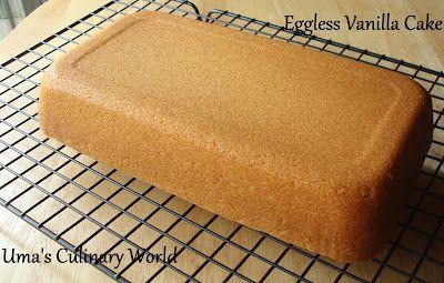Uma S Culinary World Eggless Sour Cream Vanilla Sponge Cake Sour Cream Cake Vanilla Sponge Cake Sour Cream