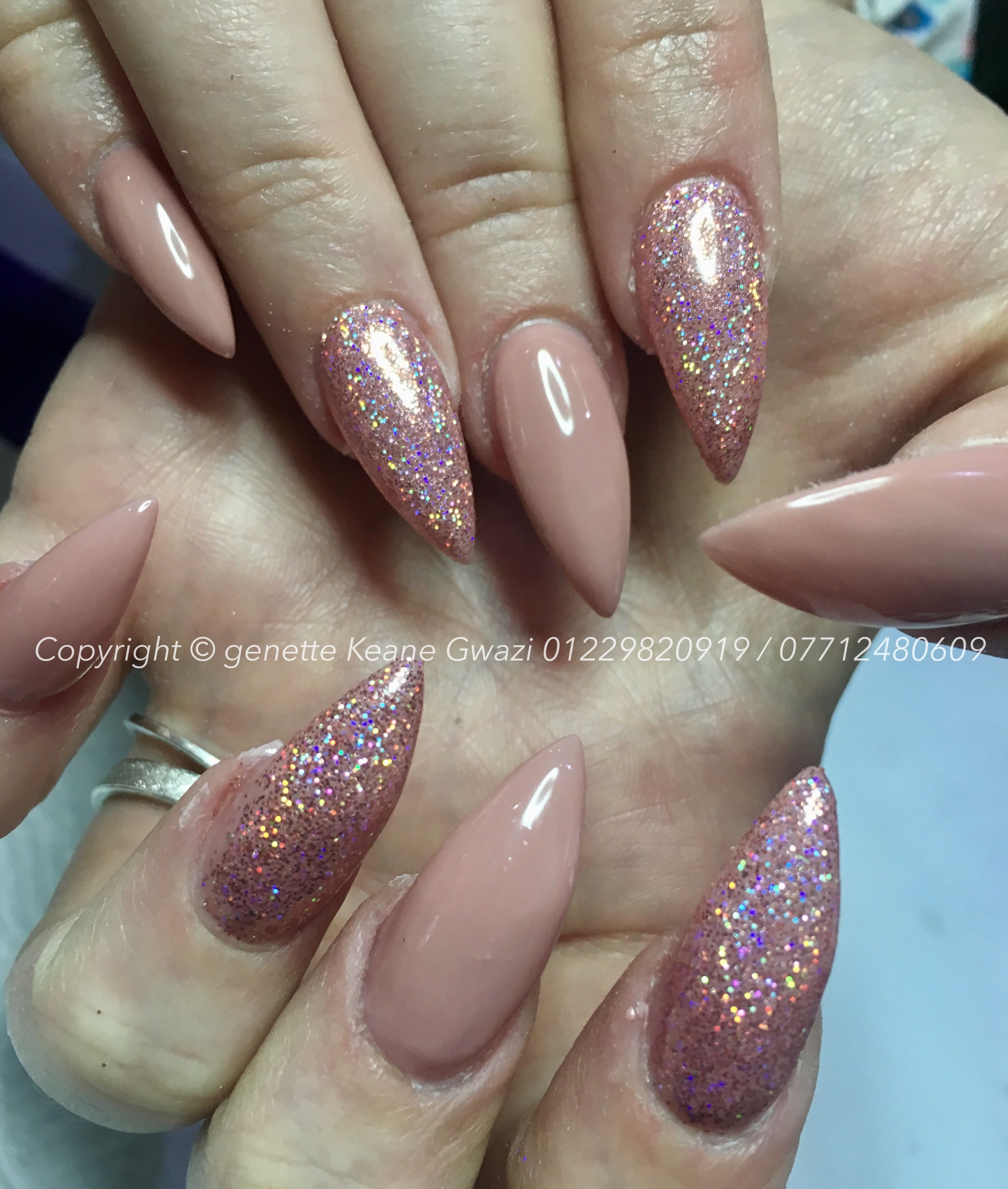 Nude rose gold pink holographic glitter nail art gwazi hair nude rose gold pink holographic glitter nail art prinsesfo Image collections