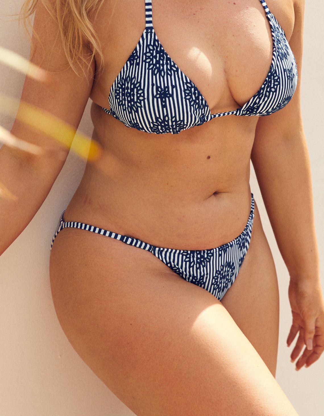 Aerieaerie high cut cheeky bikini bottom women's blue