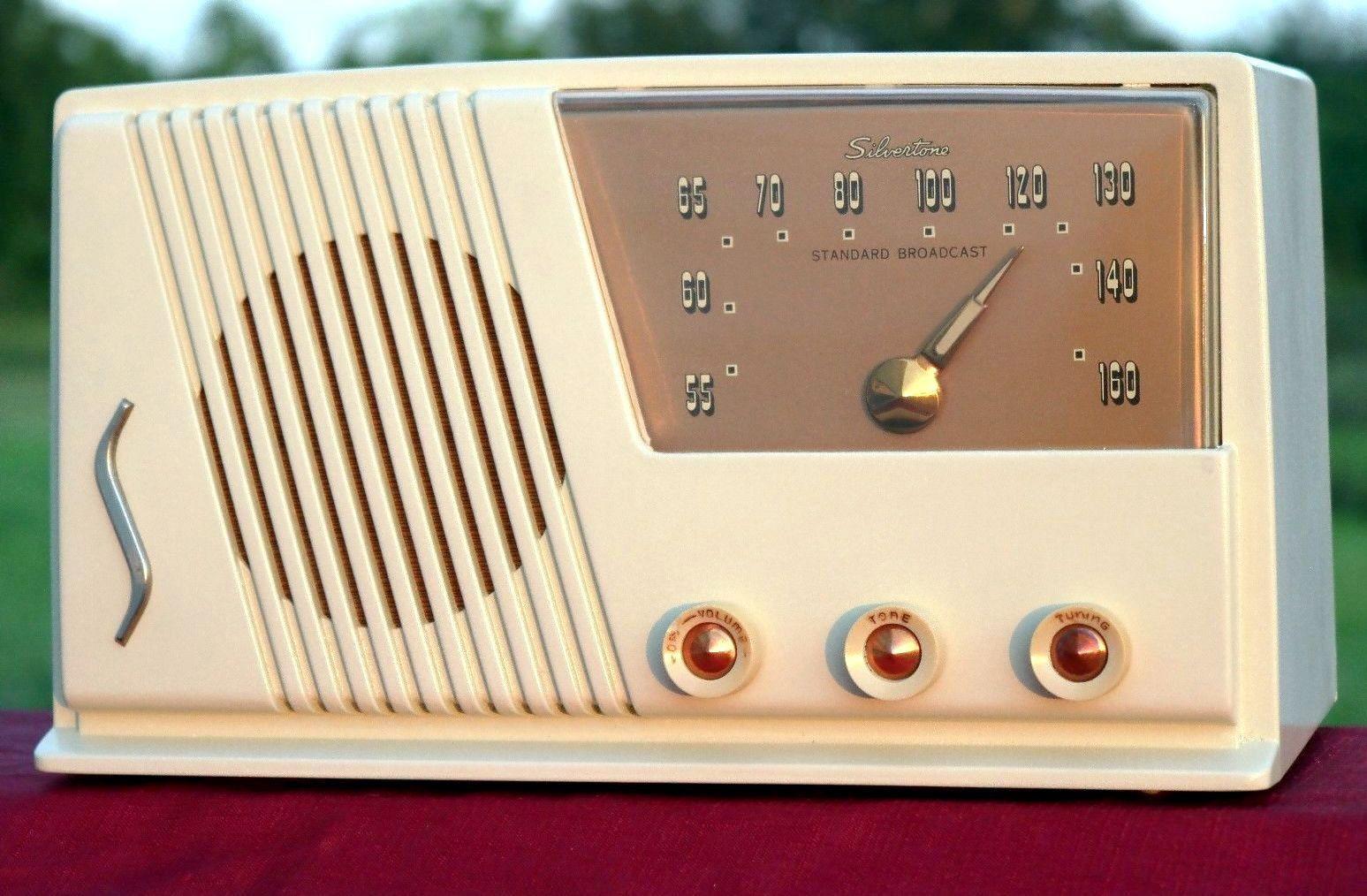 Vintage Silvertone Am Tube Radio 1951 52 Sears Catalog No 16 Fully  # Meuble Tv Sears
