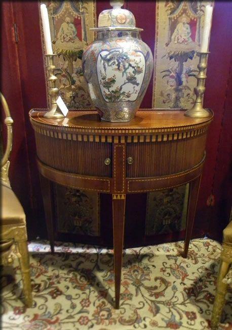 Demi Lune Inliad Antique Dutch Table $2900 Tables U2014 Plantation Antique  Galleries, Mobile, AL