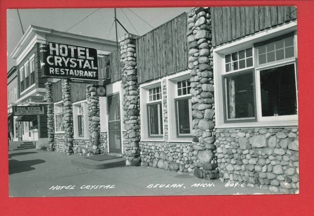 Rppc Beulah Mi Michigan Hotel Crystal Wilhelm Real Estate 1965 Barber Pole