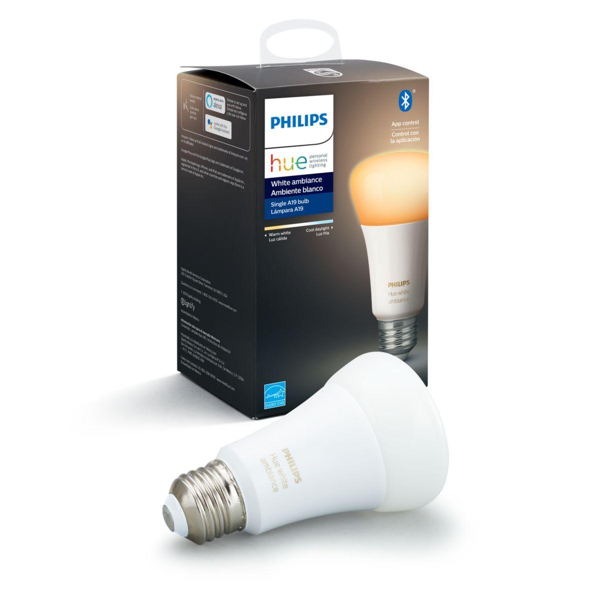 Philips Hue WA 9W A19 E26 US BLE Hue, Works with alexa