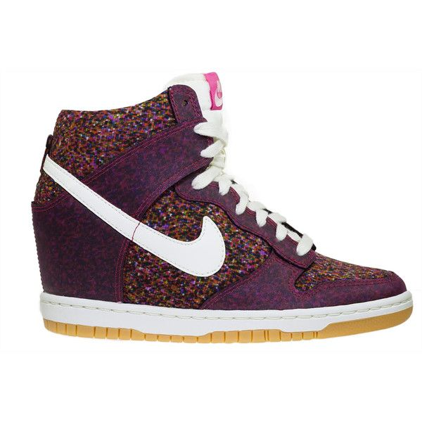 Nike Dunk Sky Hi Liberty Pink ( 150) ❤ liked on Polyvore featuring shoes e0092a702