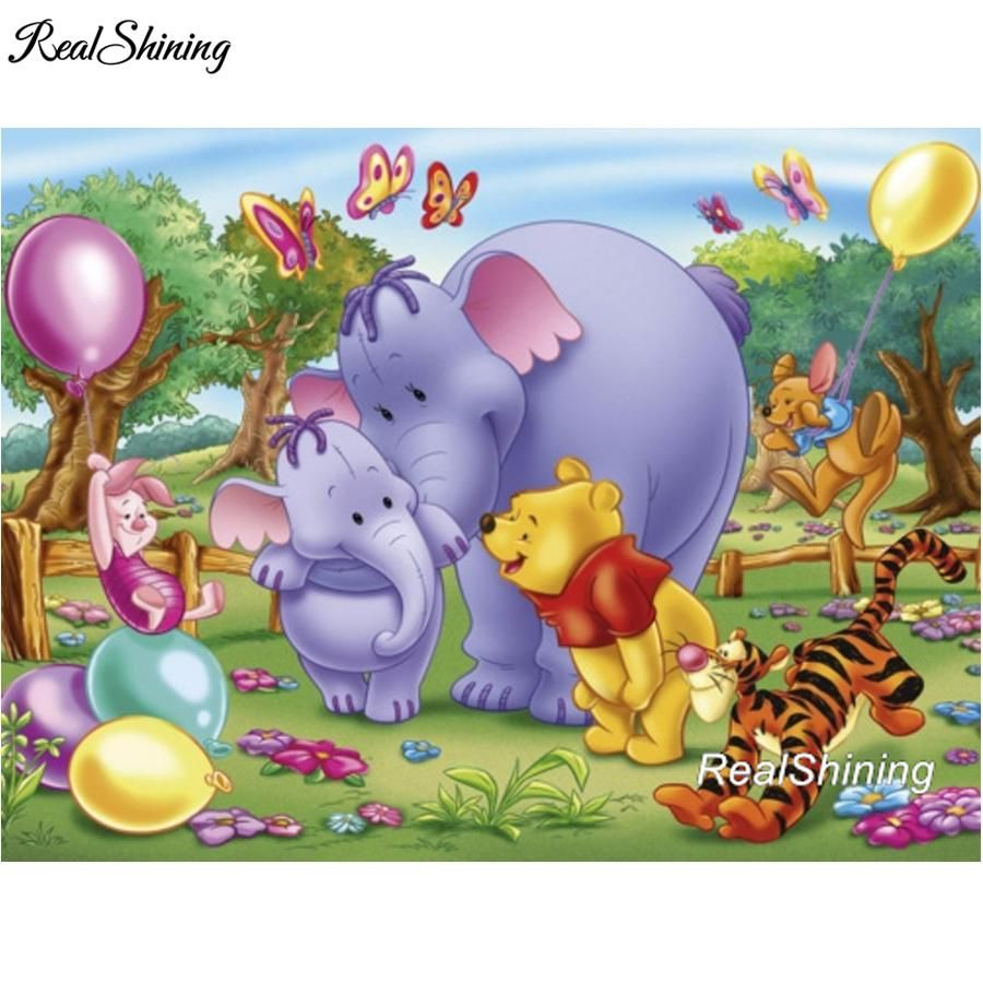 5D Diamond Painting Winnie the Pooh and the Heffalumps Kit ...