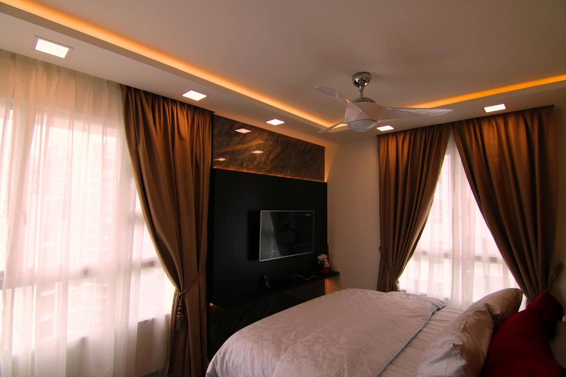 4 room hdb master bedroom design  Edgefield Plains Block B  Qanvast  Home Design Renovation