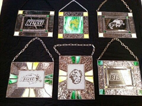ndsu glass art ndsu bison stained glass art pinterest glass