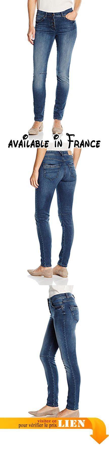B01AT62KJI : Bonita Jeans 30 inch mid stone wash denim - Jeans - Relaxed - Femme Bleu (mid-stone wash denim 1052) 38.