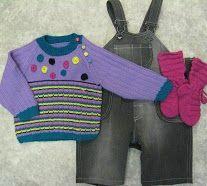 Lasten-sarja: Vanhat farkut uusiksi, bambu-langasta neulottu paita ja sukat