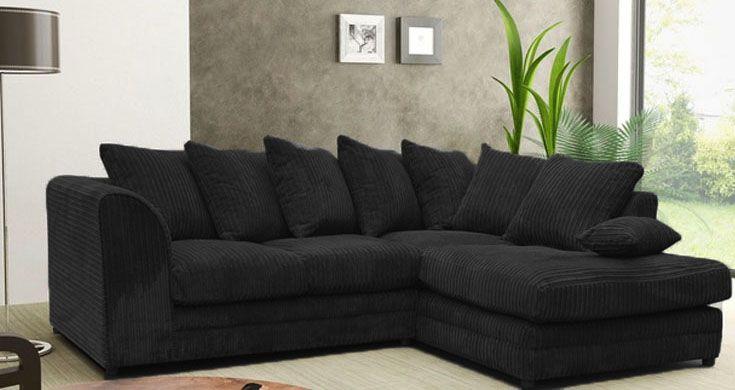 Jackson Fabric Corner Sofa Suite Collection : Black | Living ...