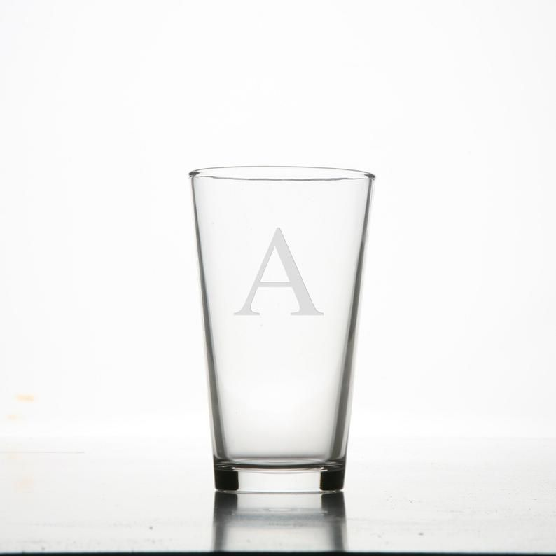 Etched Beer Glass Custom Pint Glasses Custom Beer Glass Custom