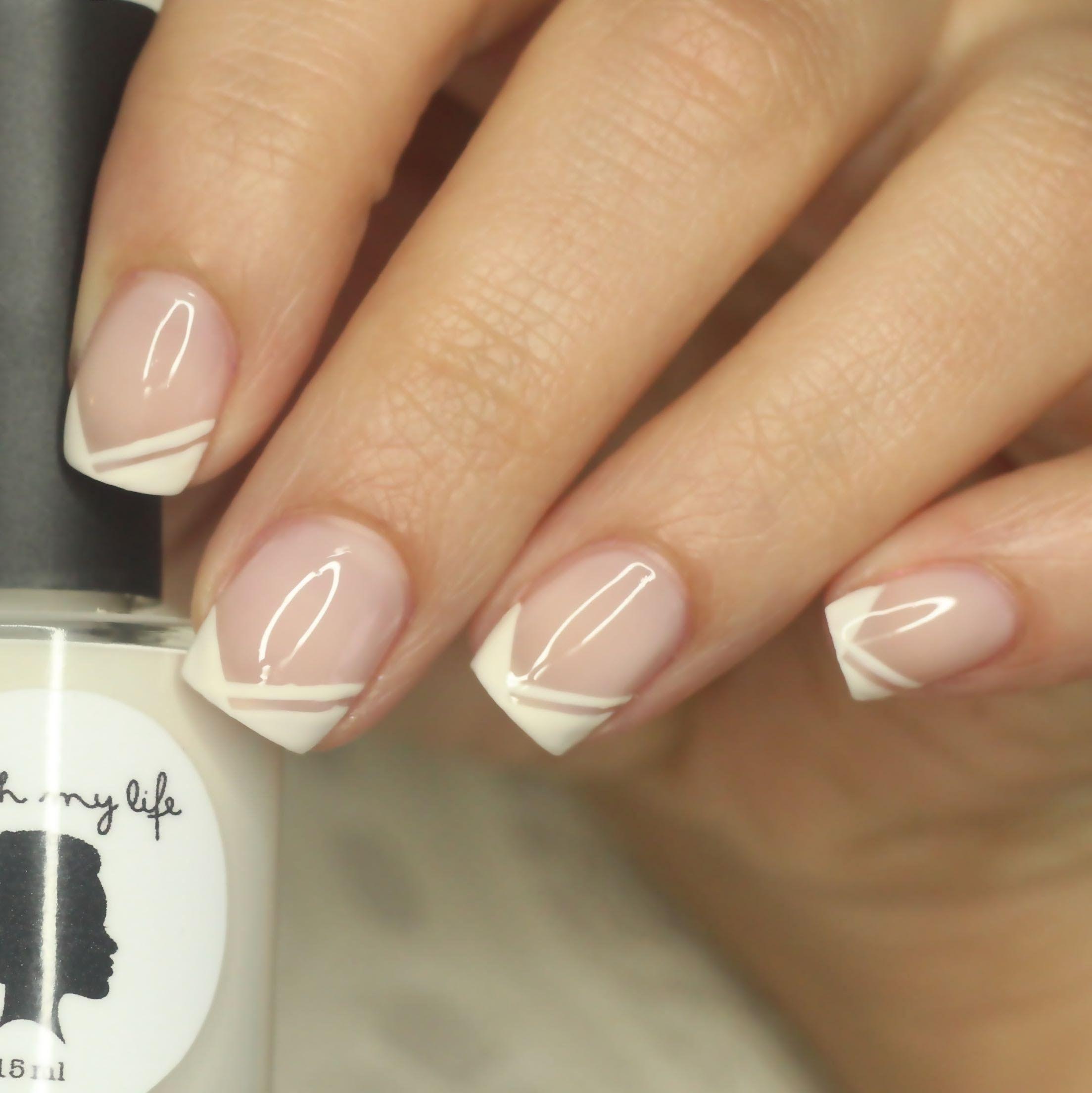 Nail Art Tutorial Edgy Chevron French Tip