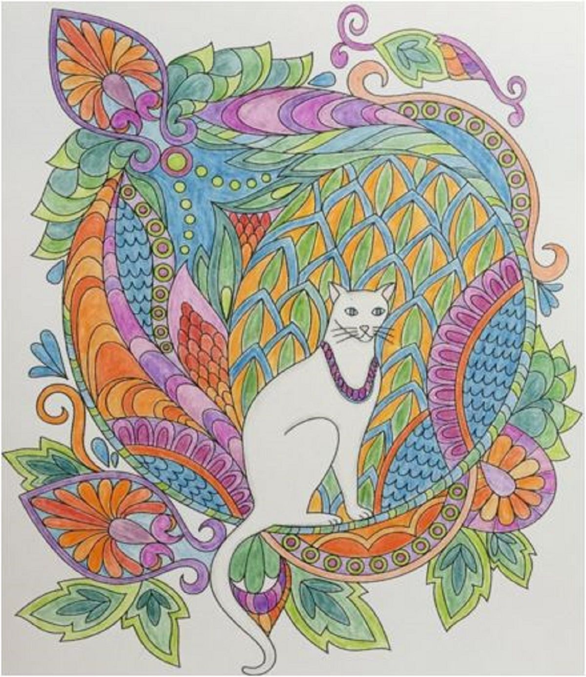 Adults Coloring Book Swirls Design Color Animals Flower Stress Relief Patterns Coloringbook