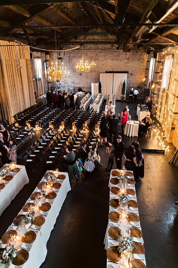 Wedding Ceremony And Reception At The Green Building