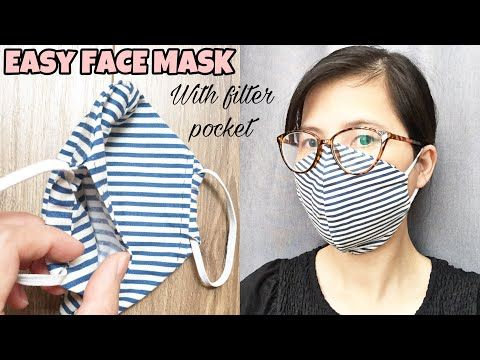 Photo of Make a 3-layer mask / face mask sewing tutorial no sewing machine / face mask diy