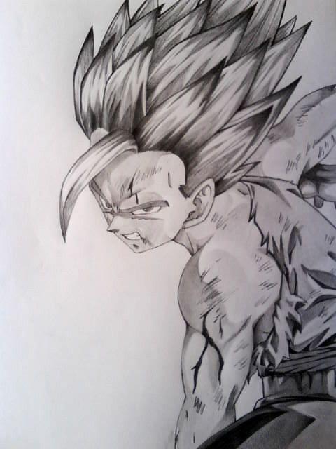 Gohan 4 By Eutanacia Goku A Lapiz Goku Dibujo A Lapiz Dibujo De Goku