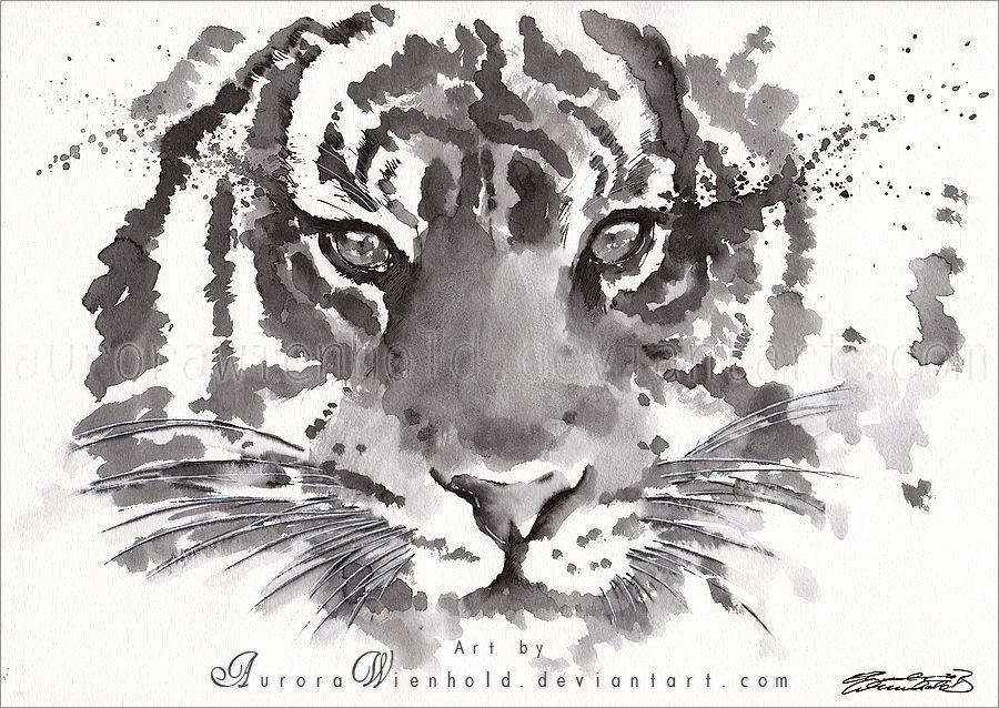 Stripes - Ink painting by AuroraWienhold.deviantart.com on @deviantART
