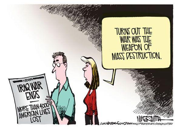 Iraq war, cartoon