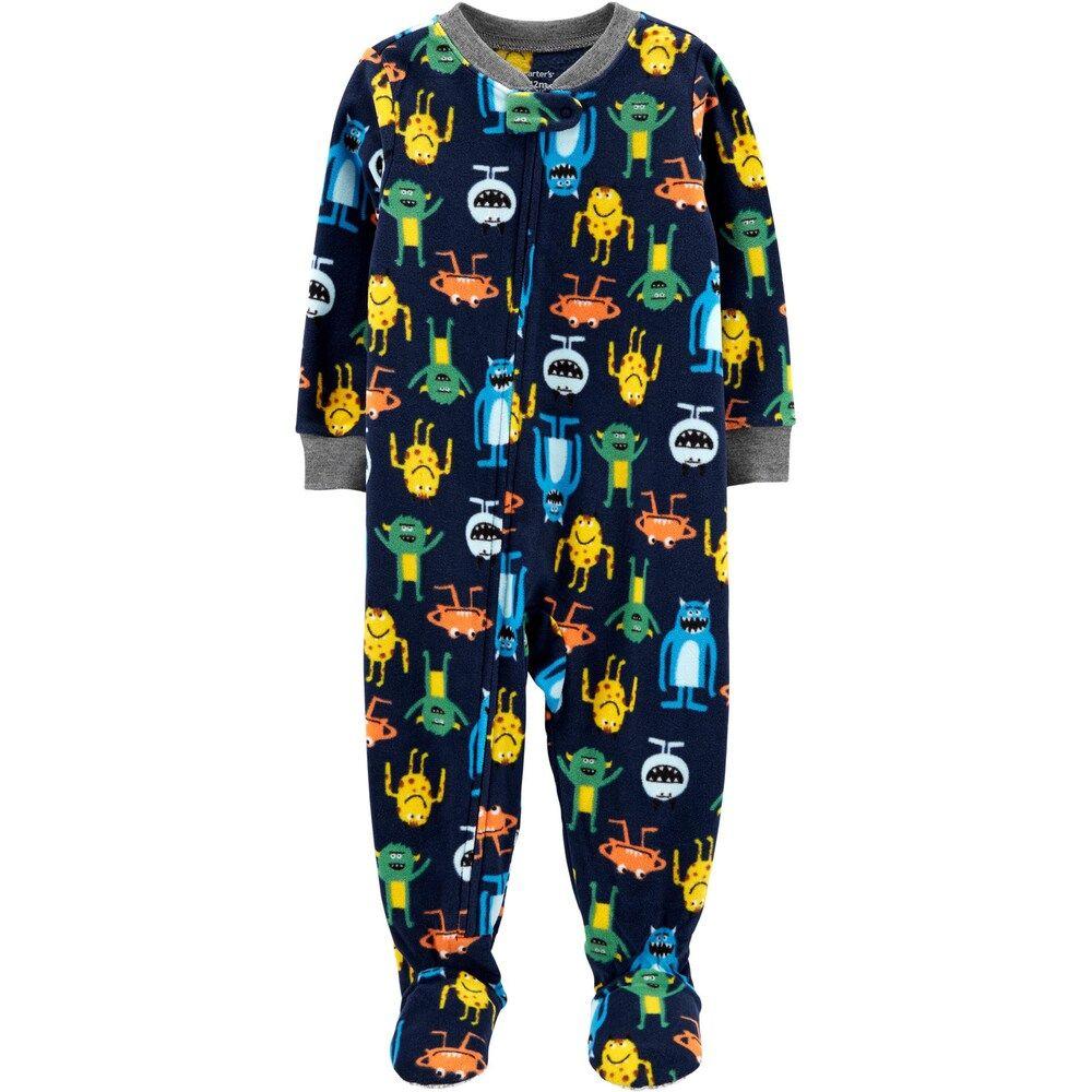 Baby Boy Carter S 1 Piece Monster Fleece Footie Pjs Infant Boy S Size 12 Months Blue Monster Carters Baby Boys Carters Baby Footie Pajama