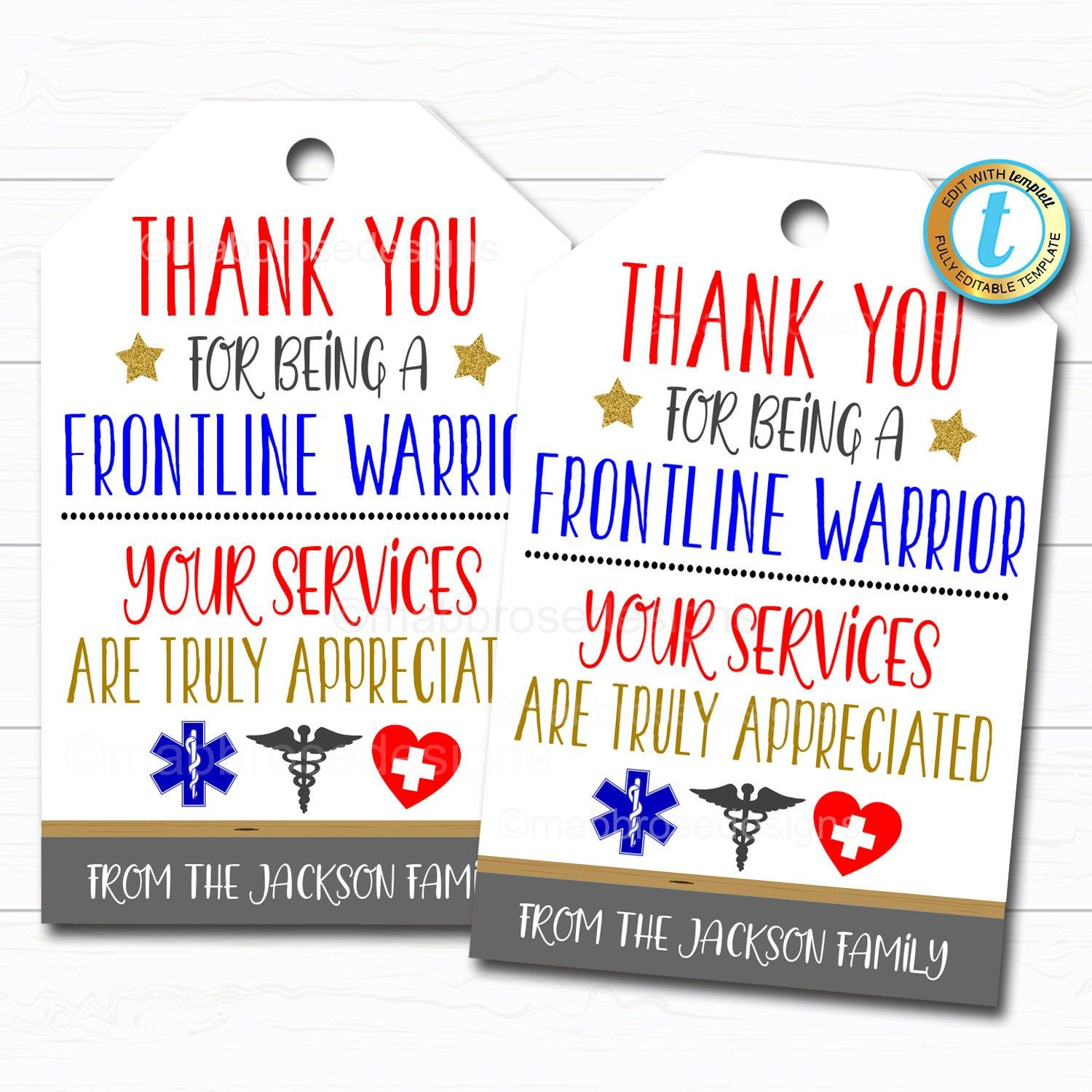 Frontline Workers Appreciation Gift Tag Thank You Gift Nurse Etsy In 2021 Appreciation Gift Gift Tags Nurse Gifts