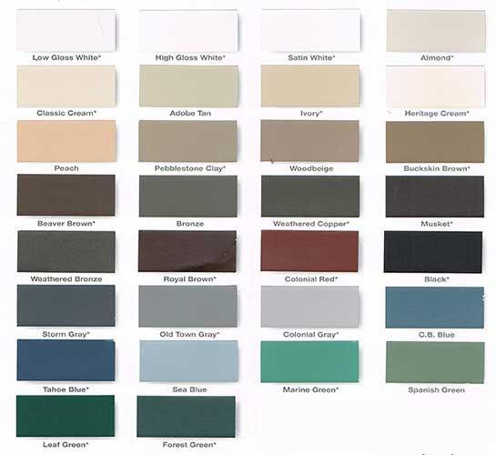 Metal Half Wall Colors Gutter Colors Gutter Colors