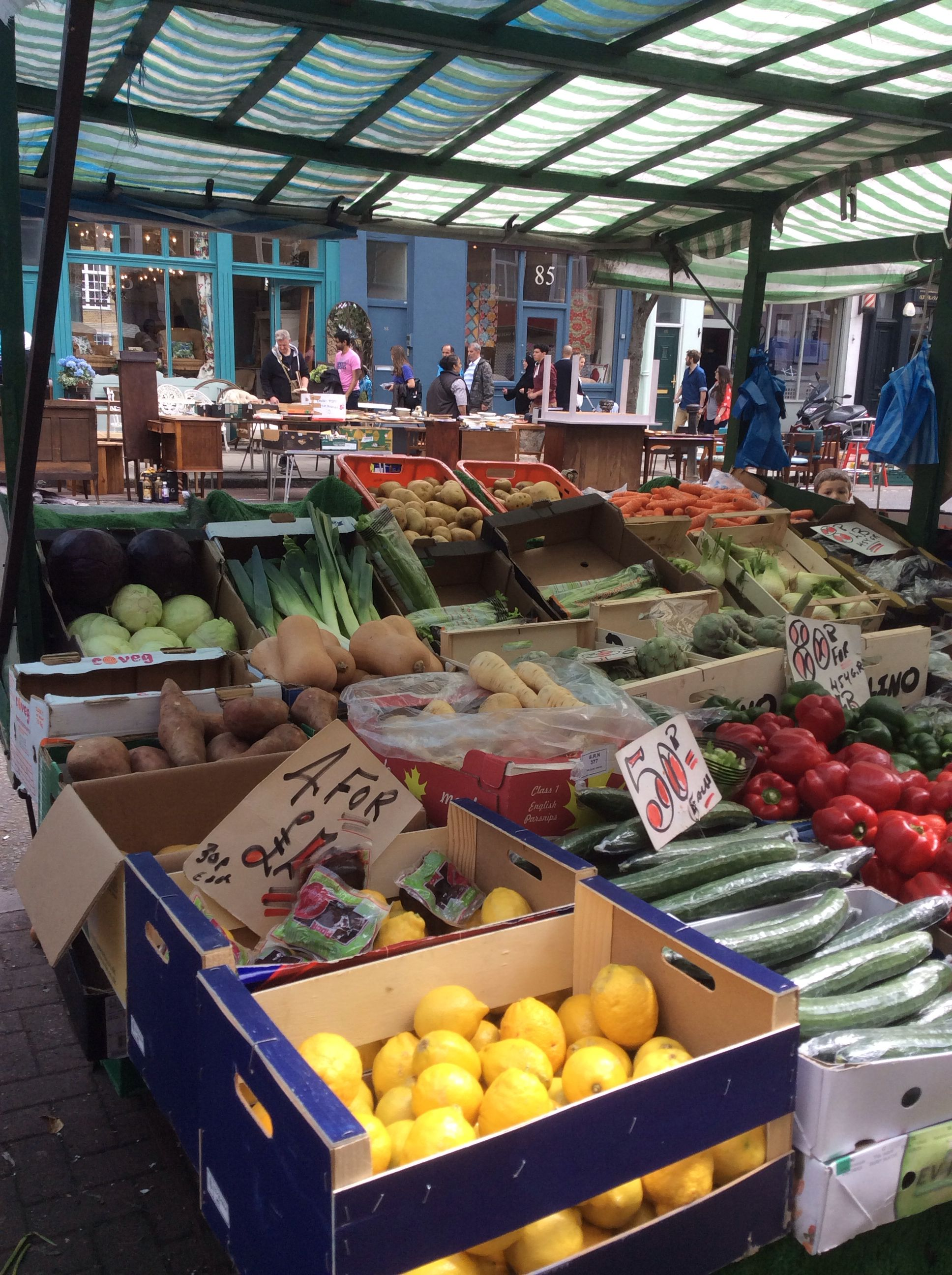 Friday and Saturday are market days on Goborne Road