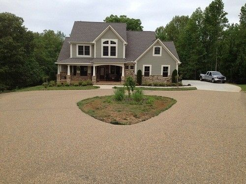 Lovely Looking Chip And Seal Residential Drive Way Driveway House Entrance Residential