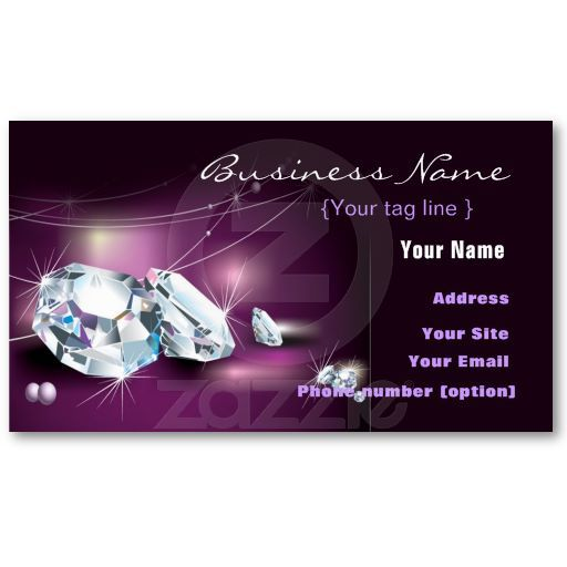 Jewelry Diamond Business Card Template Card Templates Business - Jewelry business card templates