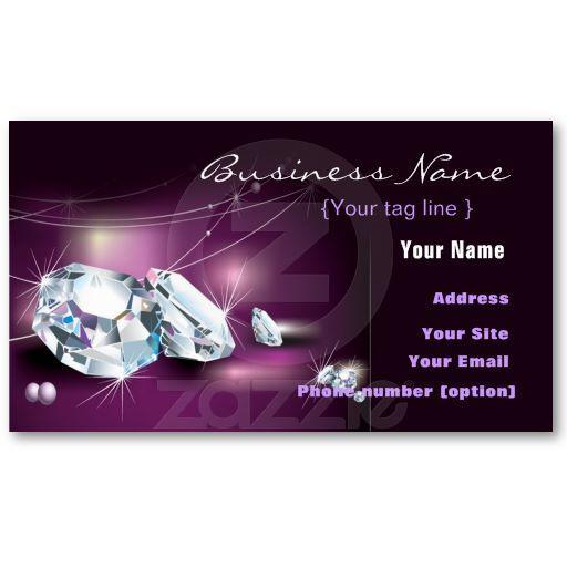 Jewelry Diamond Business Card Template Jewelry Handmade - Jewelry business card templates