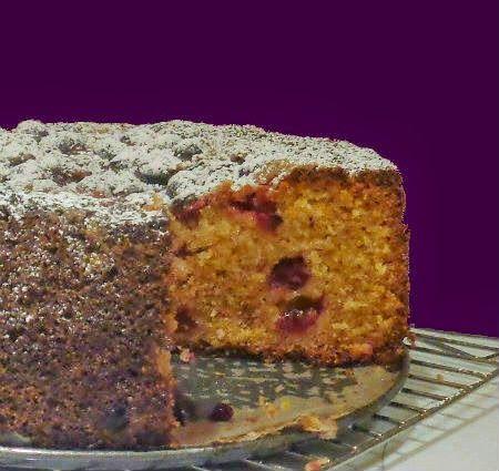 One Perfect Bite: Cranberry, Orange and Cornmeal Cake