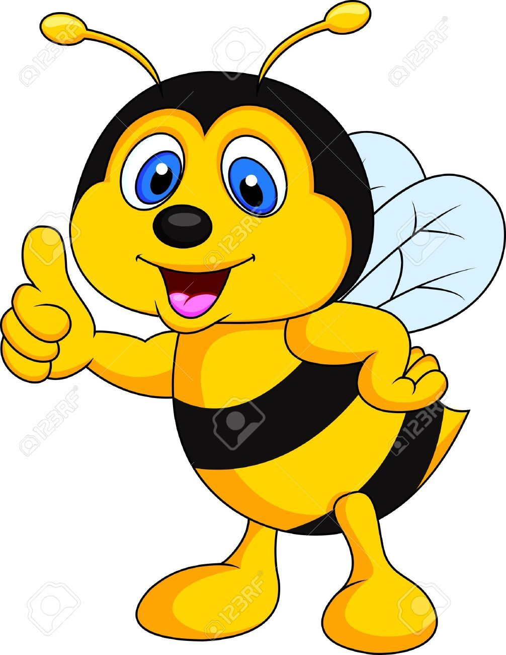 Thumbs up cute. Stock photo abejas bee